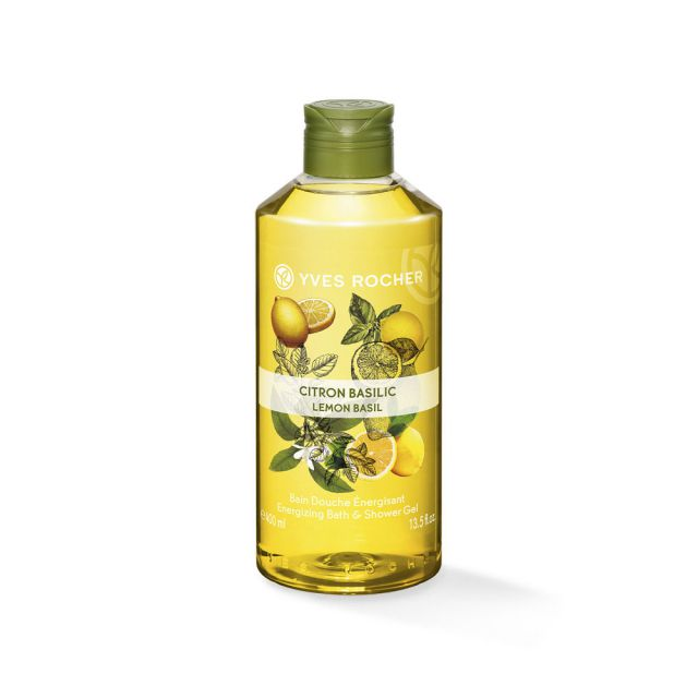 ג׳ל רחצה ממריץ בניחוח לימון בזיליקום