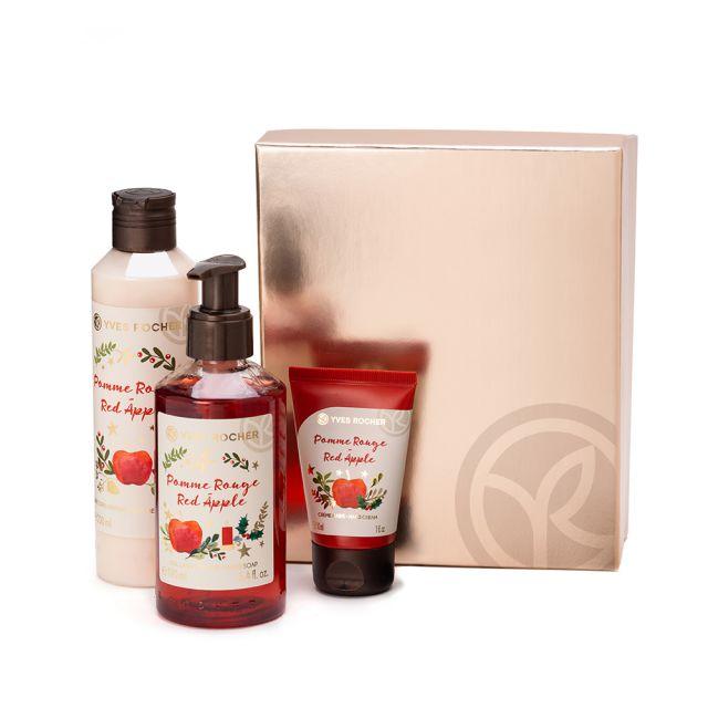 תמונת מוצר - מארז טיפוח גוף בניחוח תפוח אדום לראש השנה מסדרת  - מחיר המוצר 59.0000 ש״ח