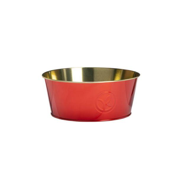 תמונת מוצר - קופסאת אחסון אדומה עגולה מסדרת  - מחיר המוצר 10.0000 ש״ח