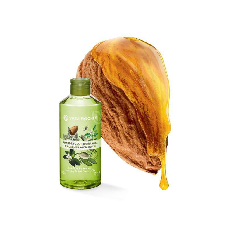 תמונת מוצר - ג'ל רחצה מרגיע בניחוח שקד ופריחת התפוז מסדרת Plaisirs Nature 2 - מחיר המוצר 25.0000 ש״ח