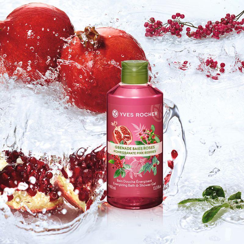 תמונת מוצר - ג׳ל רחצה ממריץ בניחוח רימון ופירות יער ורודים מסדרת Plaisirs Nature 2 - מחיר המוצר 25.0000 ש״ח
