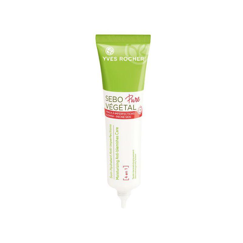 תמונת מוצר - קרם לחות 4 ב 1 לעור הנוטה לאקנה מסדרת Sebo Vegetal Pure - מחיר המוצר 99.0000 ש״ח