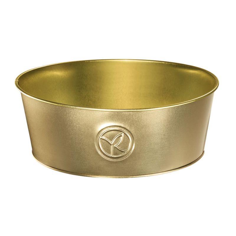 תמונת מוצר - קופסאת אחסון זהב עגולה מסדרת  - מחיר המוצר 7.0000 ש״ח