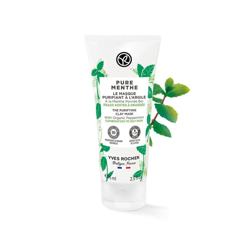 תמונת מוצר - טוהר המנטה מסכת ניקוי לעור מעורב הנוטה לשמן מסדרת Pure menthe - מחיר המוצר 85.0000 ש״ח